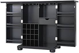 Black Bar Cabinet Crosley Furniture Alexandria Expandable Top Bar