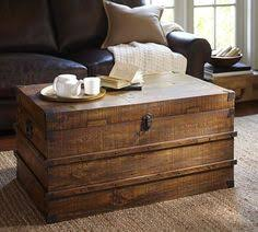 Rustic Chest Coffee Table Antique Style Steamer Trunk Vintage Sea Chest Rustic Wooden