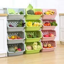 vegetable storage kitchen cabinets saniswink stackable single deck fruit vegetable storage box