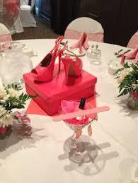 shoe centerpieces high heel birthday party centerpieces