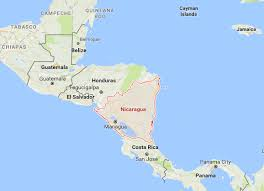 nicaragua on map with neighboring countries turismo canica