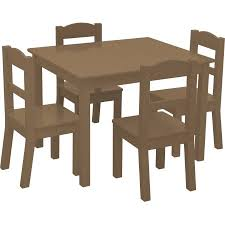 Kids Wooden Table And Chairs Set American Kids 5 Piece Wood Table And Chair Set Multiple Colors
