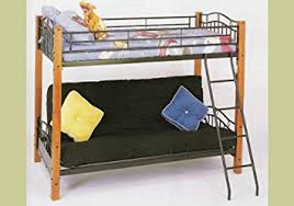 Futon Bunk Bed Plans by Amazon Com Metal And Wood Twin Futon Bunk Bed Kitchen U0026 Dining