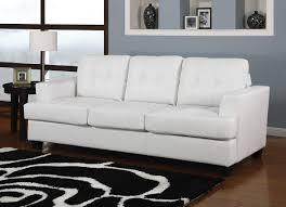 White Leather Sofa Sleeper by White Leatherette Sofa Sleeper Caravana Furniture