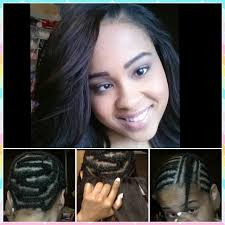 sew in weave hair extensions braid pattern u0026 install