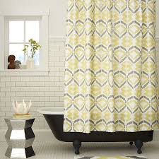 Grey And Yellow Shower Curtains Gray And Yellow Shower Curtain Home Design Ideas And Pictures