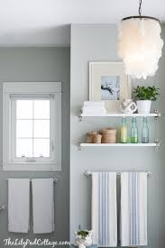 Ikea Shelves Bathroom Ikea Shelf Cottage Bathroom Benjamin Arctic Gray The