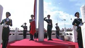 Soldiers Lifting Flag China Military Parade National Flag Raising Ceremony 720hd
