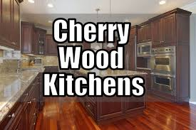 cherry wood kitchens cabinet designs youtube
