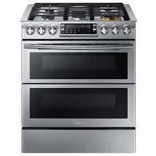 Slide In Cooktop Samsung Nx58k9850ss Aa 5 8 Cu Ft Slide In Gas Range W Flex Duo