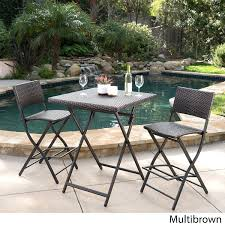 amazon com marinelli 3 piece outdoor wicker folding bar set
