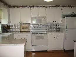 Kitchen Tin Backsplash Interior Decor Tips Fabulous Faux Tin Backsplash Tile With White