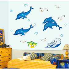 dolphin wall decal promotion shop for promotional dolphin wall new fasion nightlight fish dolphin wall decal decor sticker removable paper mural home wallpaper for kids room
