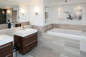 apartments modern bathroom with elegant neutral colours and