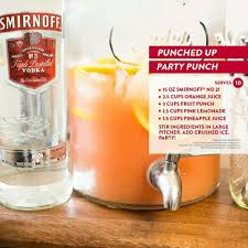 punched up party punch smirnoff orange juice fruit punch pink