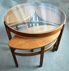round nesting coffee table round nesting coffee table 650 apartment therapy