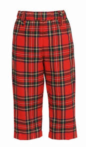 Anavini Boys Classic Red Christmas Plaid Dress Pants