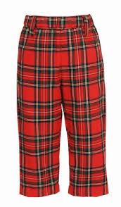Anavini Boys Classic Red Christmas Plaid Dress Pants