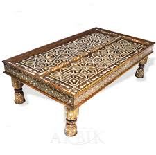 Moroccan Side Table Coffee Table Pleasing Moroccan Hand Painted Dark Green Side Table