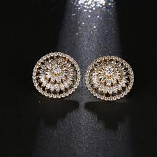 big stud earrings high quality big zircon stud earrings gold