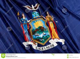 New York Flag New York State Flag Stock Image Image Of Symbol Close 14359815