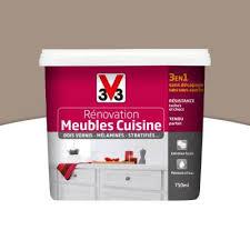 castorama peinture meuble cuisine peinture de rénovation meubles cuisine v33 taupe satiné 0 75l
