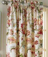 Floral Lined Curtains Jacobean Floral Pleated Valance Country Curtains