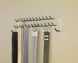 Hanging Wall Organizer Amazon Com Closetmaid 8051 Tie And Belt Rack White Home U0026 Kitchen