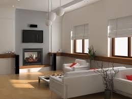 Corner Gas Fireplace With Tv Above by Modern Mansion Living Room With Tv Plain Couch And In House Stock
