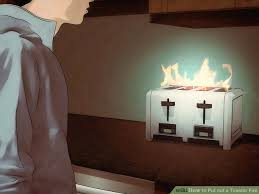 Burning Toaster How To Put Out A Toaster Fire 13 Steps With Pictures Wikihow