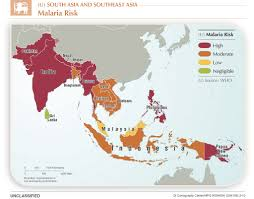 South Central Asia Map by 2013 South Asia Malaria Central Intelligence Agency Flickr