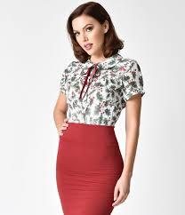 1950s rockabilly u0026 pinup tops shirts blouses