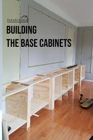 how to build a base for cabinets to sit on family room built in the base cabinets remodelando la casa