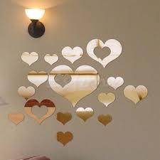 compare prices on romantic hearts mirror online shopping buy low love heart wall sticker acrylic mirror surface decal home diy romantic art decor c42 china