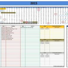 monthly work schedule template excel and yearly work schedule