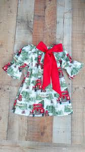2018 2018 Christmas Dresses For Girls Boutique Baby Clothing Tree
