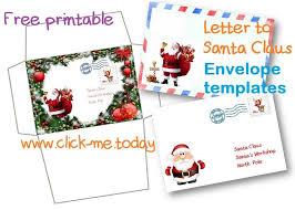 free santa envelope template business template u0027s