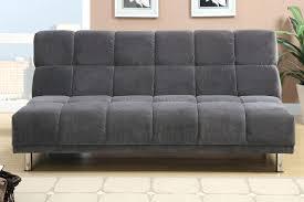 Microfiber Fabric Upholstery Black Microfiber Futon Convertible Sofa Bed Montero Convert A