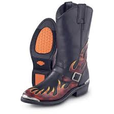 red motorbike boots men u0027s harley davidson fire boots black red 47735 motorcycle