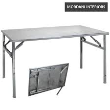 stainless steel folding table broadway banquet stainless steel folding table mordani interiors