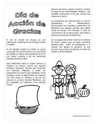 vocabulario y actividades para el dia de accion de gracias