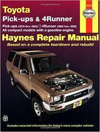 toyota 4runner repair toyota 79 95 haynes repair manuals haynes