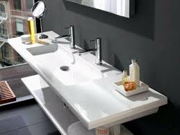 trough sink with 2 faucets trough bathroom sink with two faucets unique anyone have a single