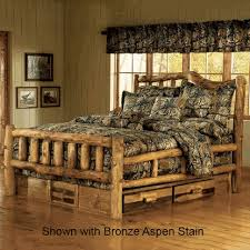 Cheap Log Bed Frames Woods Log Furniture Aspen Log Bed Snowload I