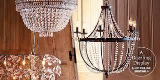 Ceiling Chandelier Lights Lighting U0026 Light Fixtures Pottery Barn