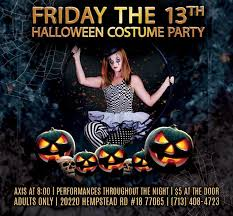 Friday 13th Halloween Costumes 13th Halloween Costume Party Axis Pole Fitness Houston 13