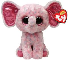 amazon ty beanie boos ellie pink speckled elephant regular