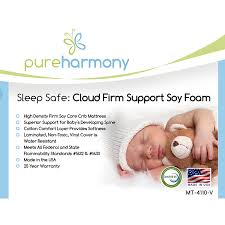 Soy Crib Mattress Harmony Sleep Safe Cloud Firm Support Soy Foam Crib Mattress