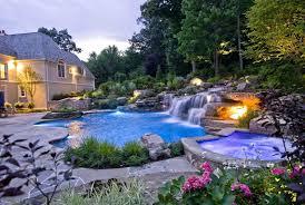 Backyard Pool With Slide - pool with waterfall u2013 bullyfreeworld com