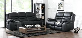 Leather Recliner Sofa 3 2 Faux Leather 2 Seater Recliner Sofa Black Leather 2 Seater